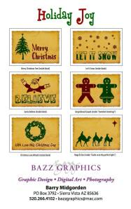 Bazza Christmas Cards