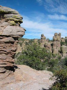 Standing rocks and sky