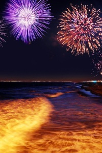 Fireworks at the Ocean