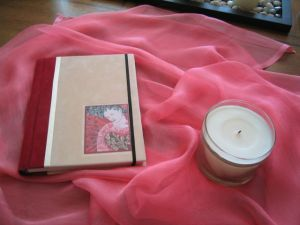 Journal and candle