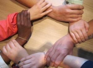 Hands of different races