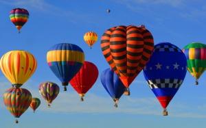 Hot Air Balloons Above Dallas