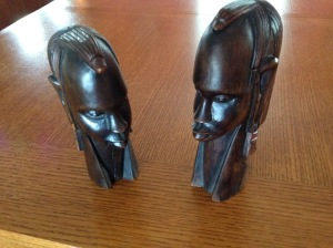 Carved African Faces. One of my cherished Christmas Gifts